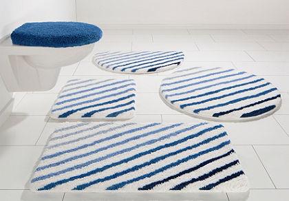 Fürdőszobaszönyeg, fali Wc szett, my home, »Rantum«, magasság 20mm, mikroszálas,csúszásgátló hátoldal