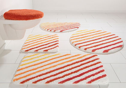 Koupelnový kobereček, půlkruh
