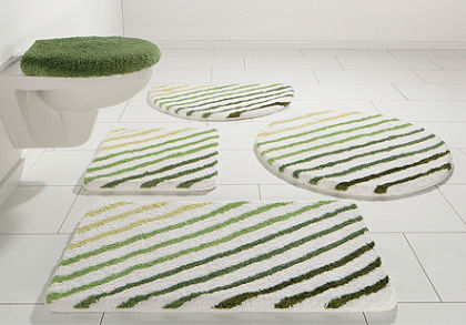 Fürdőszobaszönyeg, my home, »Rantum«, magasság 20mm, mikroszálas,csúszásgátló hátoldal