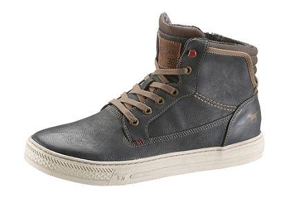 Mustang Shoes magasszárú cipő világos talppal