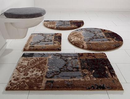 Fürdőszobaszőnyeg,kerek, Grund, »Amay«, magasság 20mm, csúszásgátló hátoldallal