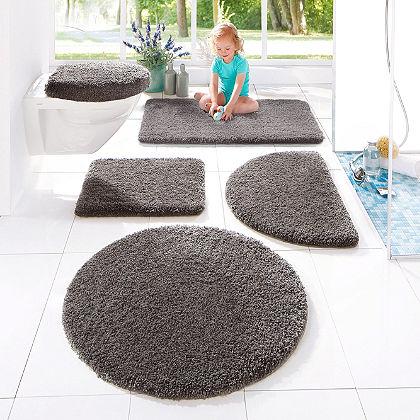 Fürdőszobaszőnyeg, my home, »Sanremo«, magasság 30mm, mikroszálas, csúszásgátlós hátoldal