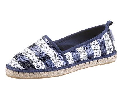 Tamaris espadrilles cipő, csillogó hatású