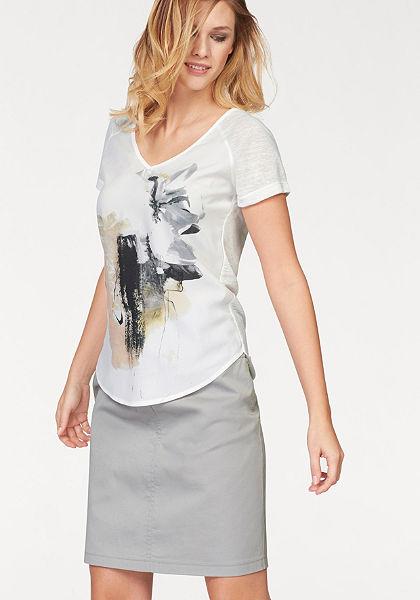Corley póló, nyomott mintás»az eleje szőtt anyagból«