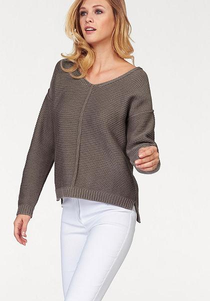 Corley pulóver sktrukturált kötésmintával »rövid fazonú«