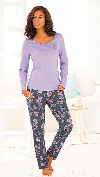 Vivance Dreams pizsama, virágmintás nadrággal