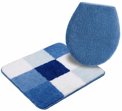 Fürdőszobaszőnyeg, szett fali WC-hez, my home, »Rondo«, vastagság 15 mm, csúszásgátló hátoldallal