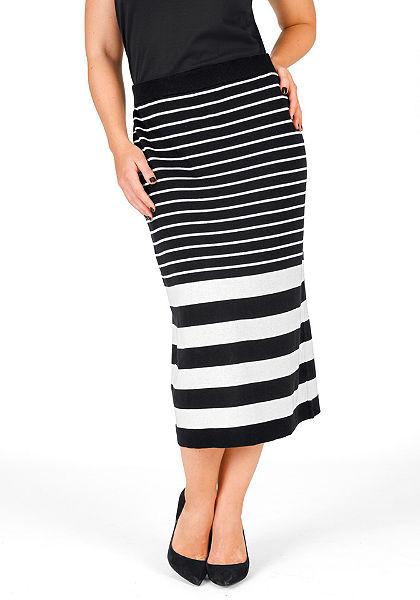 sheego Trend Úpletová sukňa
