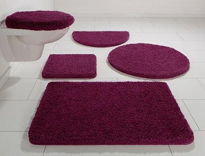Fürdőszobaszőnyeg, 3 részes szett fali WC-hez, my home, »Rondo«, vastagság 26 mm, csúszásgátló hátoldallal