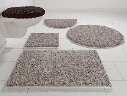 Fürdőszobaszőnyeg, 3 részes fali WC szett, Ecorepublic Home, »Sara«, magasság 22 mm, bio pamutból