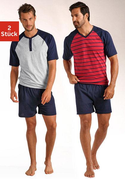 Le Jogger rövidnadrágos pizsama (2db ), rövid fazonú, raglán ujjal, tiszta pamutból