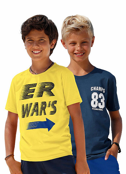 kidsworld Tričko (v balení po 2 ks), pre chlapcov