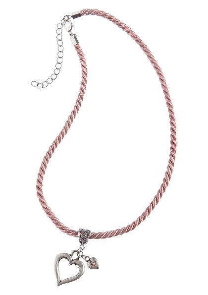 Népviseleti nyaklánc hölgyeknek szív medállal, Lusana