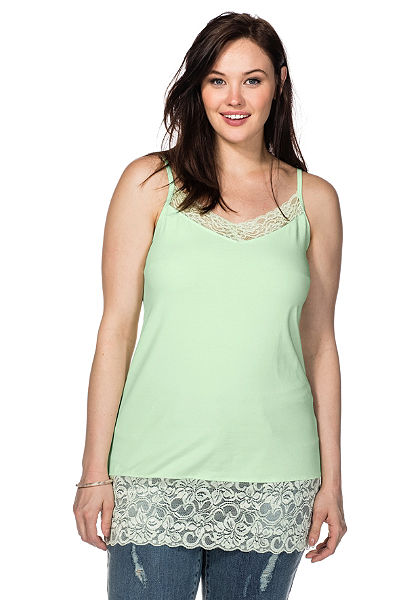 sheego Casual BASIC spagettipántos top