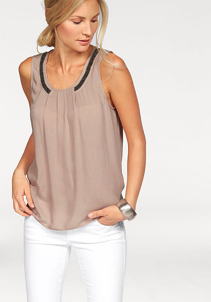 Vero Moda blúz fazonú top »Bead Pleat«