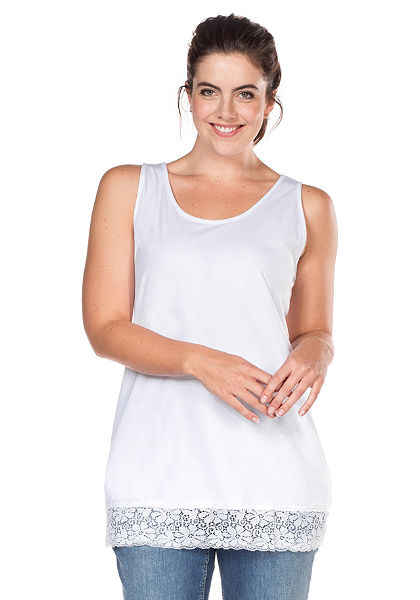 sheego Casual BASIC csipkés top
