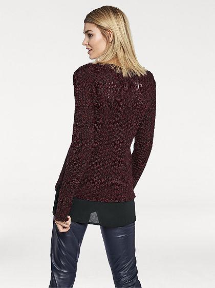 Nagyszemes kötött pulóver