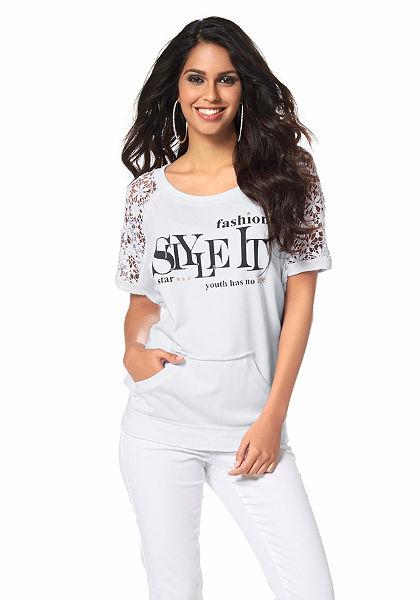 Laura Scott póló »rövidujja csipkéből«