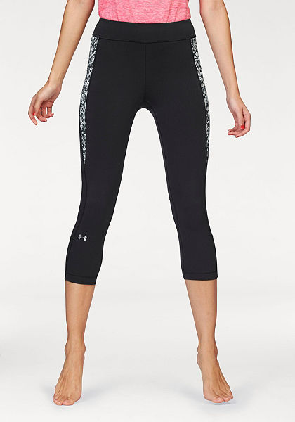 Under Armour® »HEATGEAR ARMOUR CROP PRINT INSET« 3/4-es sportnadrág
