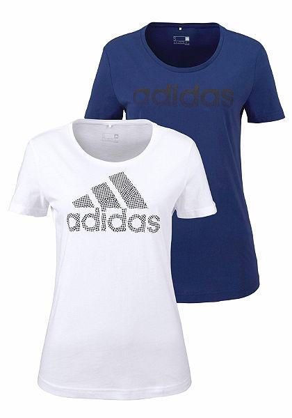 adidas Performance Tričko »BRANDING 2-PACK TEES«