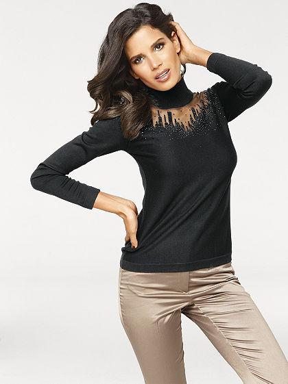 Finomkötésű pulóver