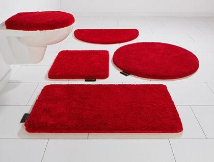 Kúpeľňová predložka, 3-dielna súprava pre visiace WC, Bruno Banani, »Lana«, výška 25 mm, protišmyková úprava