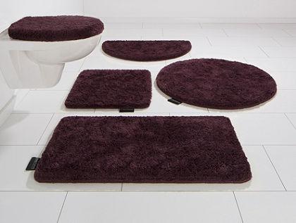 Kúpeľňová predložka, súprava pre štandardné WC, Bruno Banani, »Lana«, výška 25 mm, protišmyková úprava