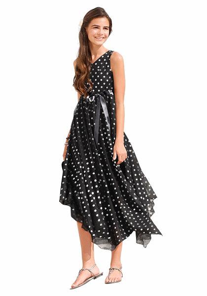 kidsworld Slávnostné šaty so saténovou stuhou (2 ks), pre dievčatá