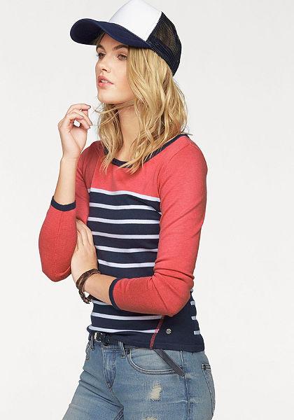 AJC csíkos pulóver »kontrasztos színű«