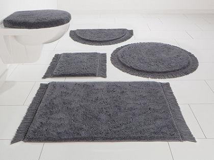 Kúpeľňová predložka, 3-diel. pred závesné WC, Home affaire Collection »Finca«, biobavlna, výška 16 mm