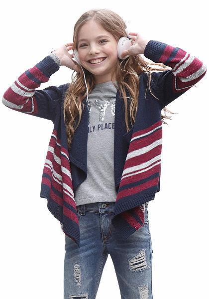 kidsworld Pletený svetr bez zapínání, pro dívky