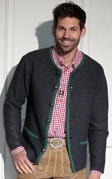 Krojový pánsky sveter so zapínaním na gombík