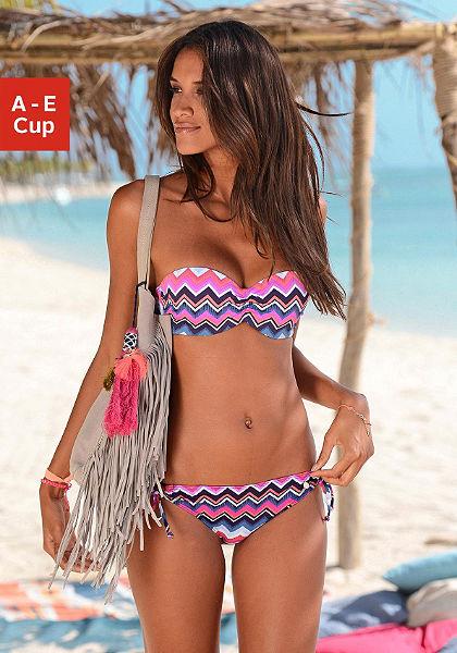 Merevítős bandeau bikinifelső, LASCANA