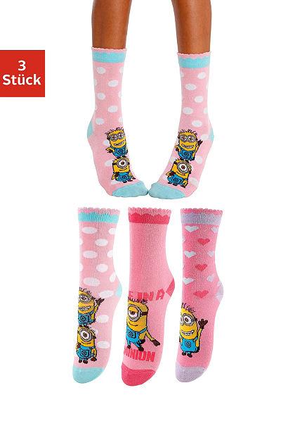 Minions Ponožky dětské (3 páry) s různými motivy