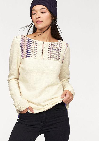 Roxy svetr s kulatým výstřihem