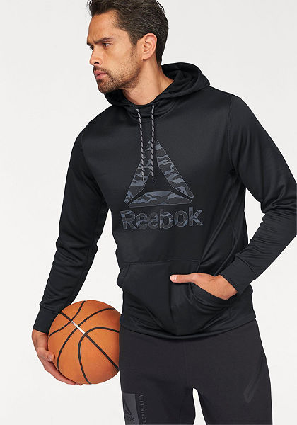 Reebok  »Workout Ready Big Logo Cotton poly Hood« kapucnis pulóver