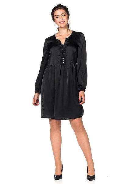 sheego Style Saténové šaty s krajkou