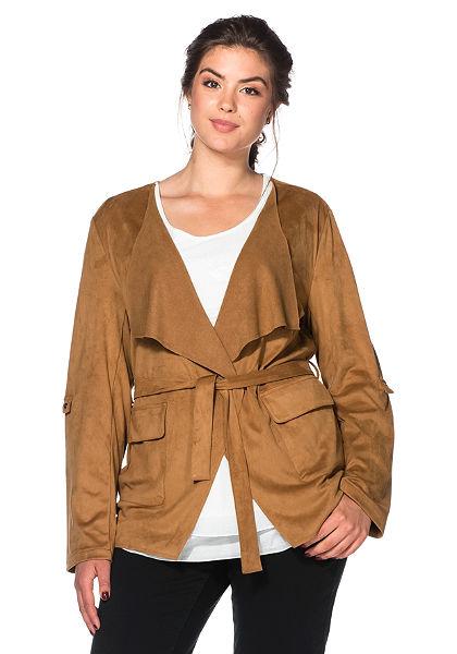 sheego Style Koženková bunda