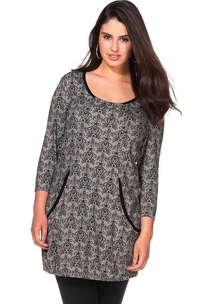 sheego Style Šaty s celoplošným potiskem