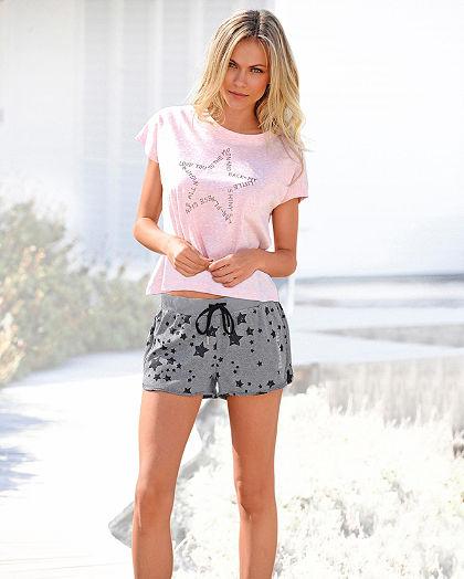 Bench sportos rövidnadrágos pizsama csillag mintával
