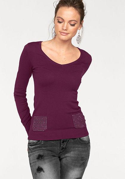 Melrose V nyakú pulóver