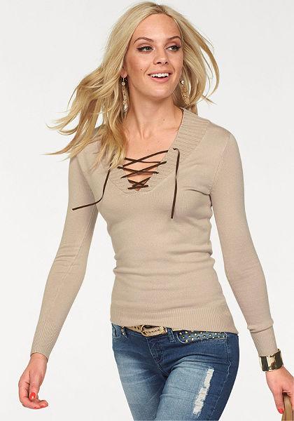 Melrose V kivágású pulóver