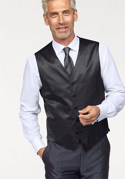 Vesta, kravata, kapesníček