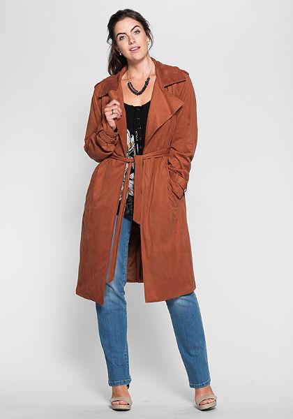 sheego Style Kabát z koženky