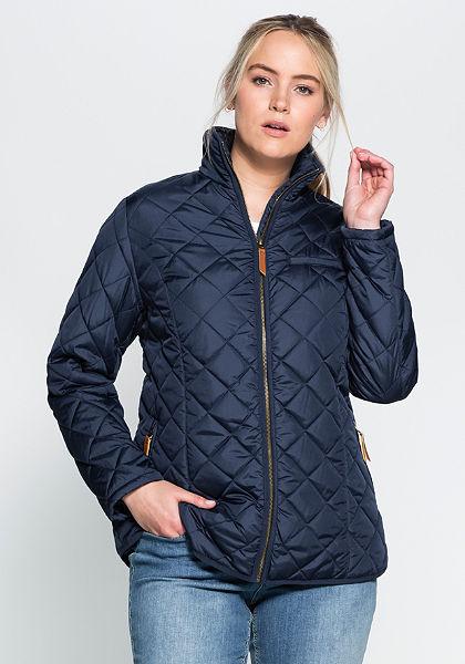 sheego Casual Prošívaná bunda s vysokým límcem