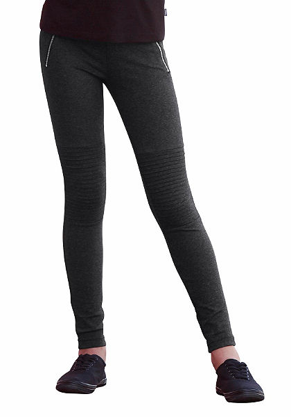 Arizona Elastické nohavice, zipsové aplikácie, pre dievčatá