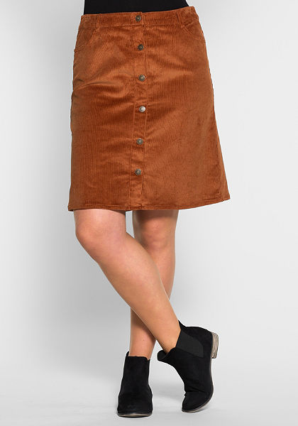 sheego Casual Kordová sukně