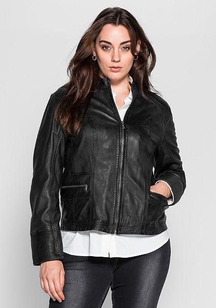 sheego Style Kožená bunda