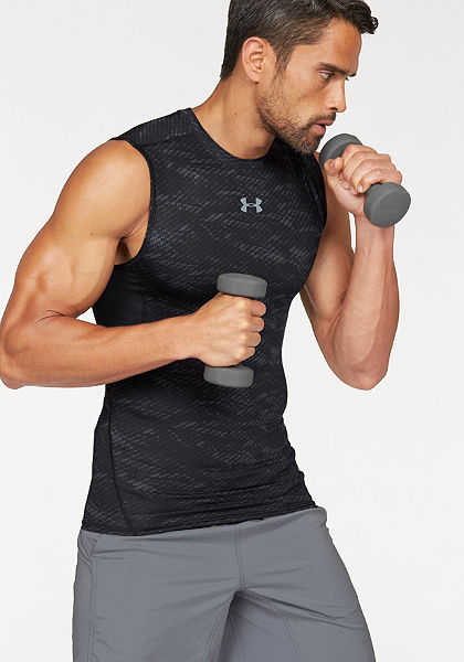Under Armour® Top »UA HEATGEAR ARMOUR PRINTED SLEEVELESS COMPRESSION TANK«