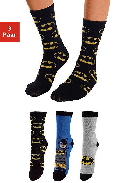 Batman Dětské ponožky (3 páry) s různými motivy